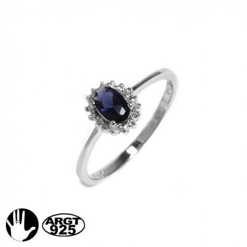prinzessin zirkonia ring saphir blau 925 silber verlobungsring hochzeit braut ebay. Black Bedroom Furniture Sets. Home Design Ideas