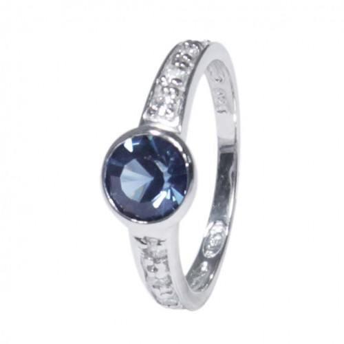 925er silber damen ring zirkonia solit r blau - Verlobungsring blau ...