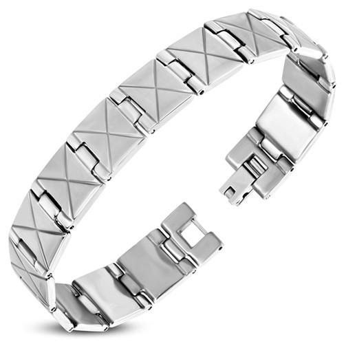 Armband Männer Edelstahl Cross
