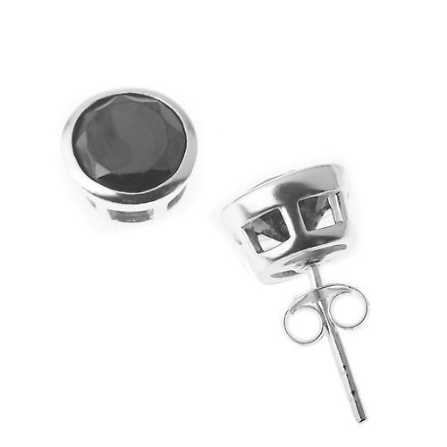 herren ohrstecker bling bling ice silber schwarz specials. Black Bedroom Furniture Sets. Home Design Ideas